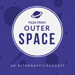 Violet and White Podcast Cover Space