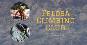 Grey Climbing Club Sports Collage Facebook Sports Collage