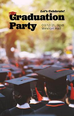 Graduation Party Poster  Celebration