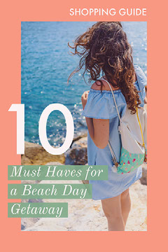 Pink, White and Blue Shopping Guide Beach Season Pinterest Dress