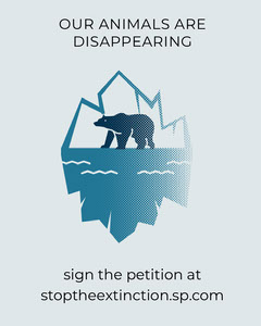 Blue Animals Disappearing Climate Change Poster Climate Change Posters