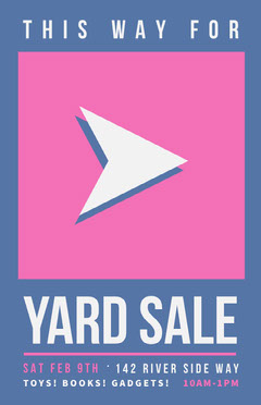 This Way Yard Sale Yard Sale Flyer
