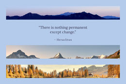 """There is nothing permanent except change."" Collage di foto"