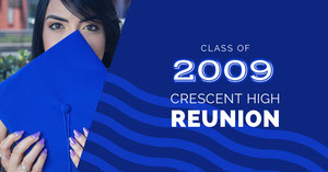 Blue and WHite Reunion Social Post Facebook Cover