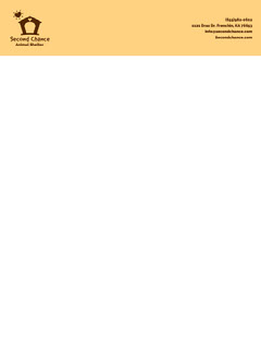 Yellow Illustrated Animal Shelter Letterhead Pets