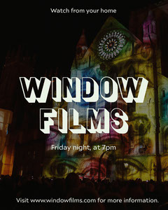 Colorful Window Films Instagram Portrait Movie Night Flyer