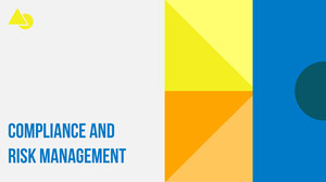 white blue yellow orange geometric compliance and guidelines presentation cover Présentation