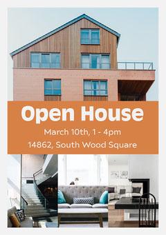 Orange Open House Flyer Open House Flyer