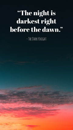 Motivational Quote Instagram Story with Sky at Sunset Instagram Story