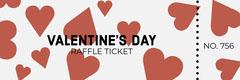Red Heart Valentine's Day Raffle Ticket Heart
