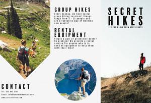 Secret Hikes Brochure Travel Brochure
