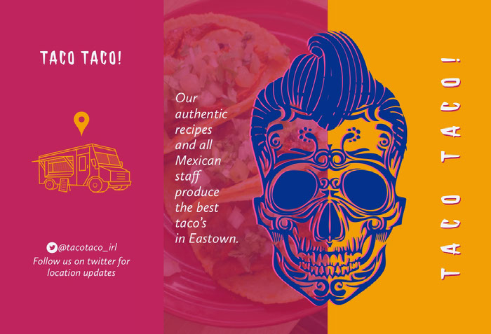 Pink and Orange Taco Food Truck Brochure Idées de brochures