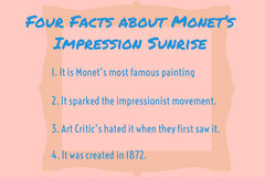 Monet art flashcard  Education