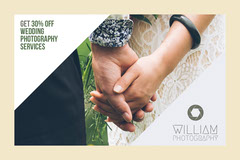 White and Beige William Photography Flyer Service