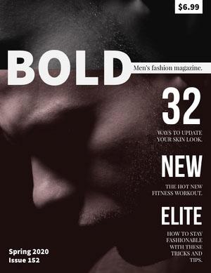 Black and White With Man Profile Magazine Cover Capa de revista