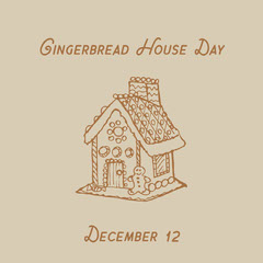 gingerbread house day Holiday