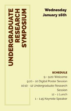 UNDERGRADUATE<BR>RESEARCH SYMPOSIUM Speaker