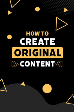 Black & Yellow Shapes Create Content Pinterest Post