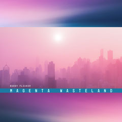 Purple Pink City Silhouette Album Art Cover Band