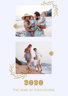 White Gold Staycations 2020 Card Family