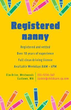 Yellow Nanny Poster Kids