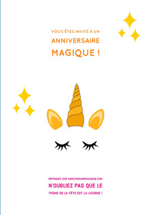 magical unicorn birthday cards Carte d'anniversaire