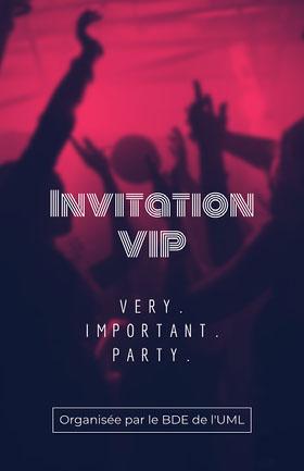 Red and Black VIP Student Party Invitation Poster   Flyer événement
