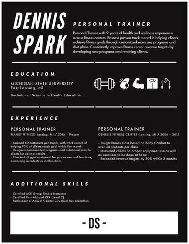 Infographic Resume Best Fonts for Your Résumé