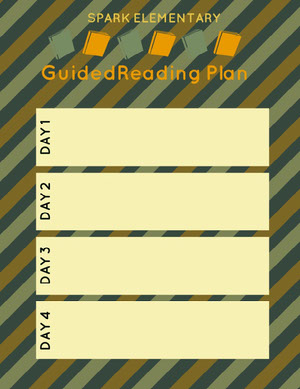 Green Yellow and White Guided Reading Plan Horario de clase