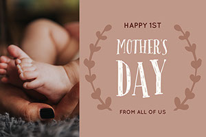 Brown and Warm Toned Mothers Day Facebook Post Mother's Day Messages