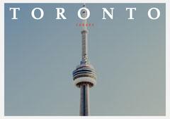 CN Tower Photo Toronto Canada Postcard Sky