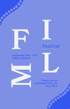 Blue Typography Film Festival Poster Film Festival Poster
