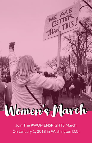 Women's March Campagneposter