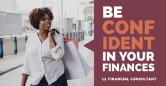Purple and White, Bright Toned Financial Consultant Ad Facebook Banner Finance