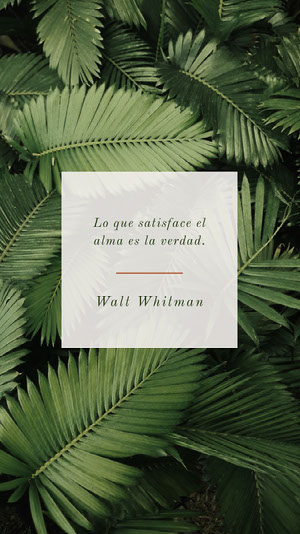 Walt Whitman  Cartel motivador