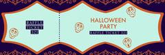 Purple Sugar Skulls Halloween Party Raffle Ticket Event Ticket