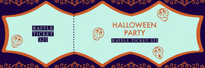 Purple Sugar Skulls Halloween Party Raffle Ticket Billet de tombola
