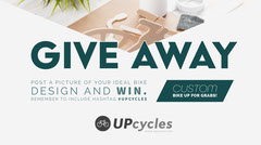 White and Green Design Contest with Bicycle Giveaway Twitter Post Giveaway