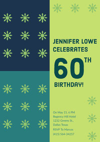 60 Birthday Card with Quotes