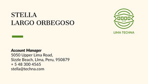 Account Manager Business Card  Tarjeta de visita
