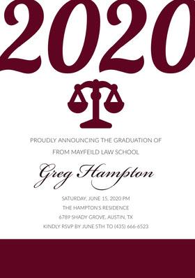 2020 Graduation Invitation