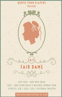 fair lady play poster Play Poster