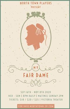 fair lady play poster Fairs