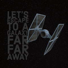 Black and Grey Star Wars Reference Quote Instagram Post Galaxy
