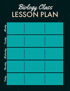 Biology Class LESSON PLAN Back to School