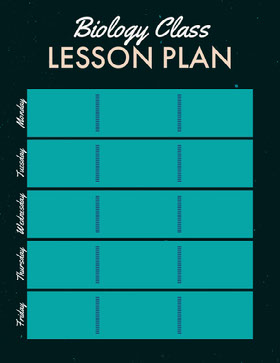 Black and Turquoise Biology Class School Lesson Plan Educator
