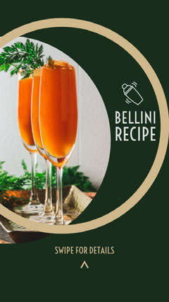 Green and White Bellini Recipe Social Post Cocktails