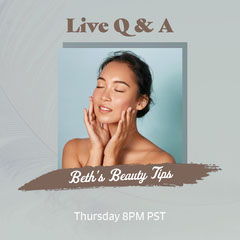 Grey Blue Beauty Live Q&A Instagram Square Makeup