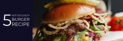 Black With Burger Recipe Banner Burger