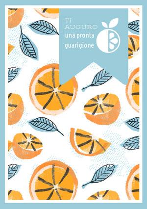 orange patterned get well soon cards Biglietto d'auguri di pronta guarigione